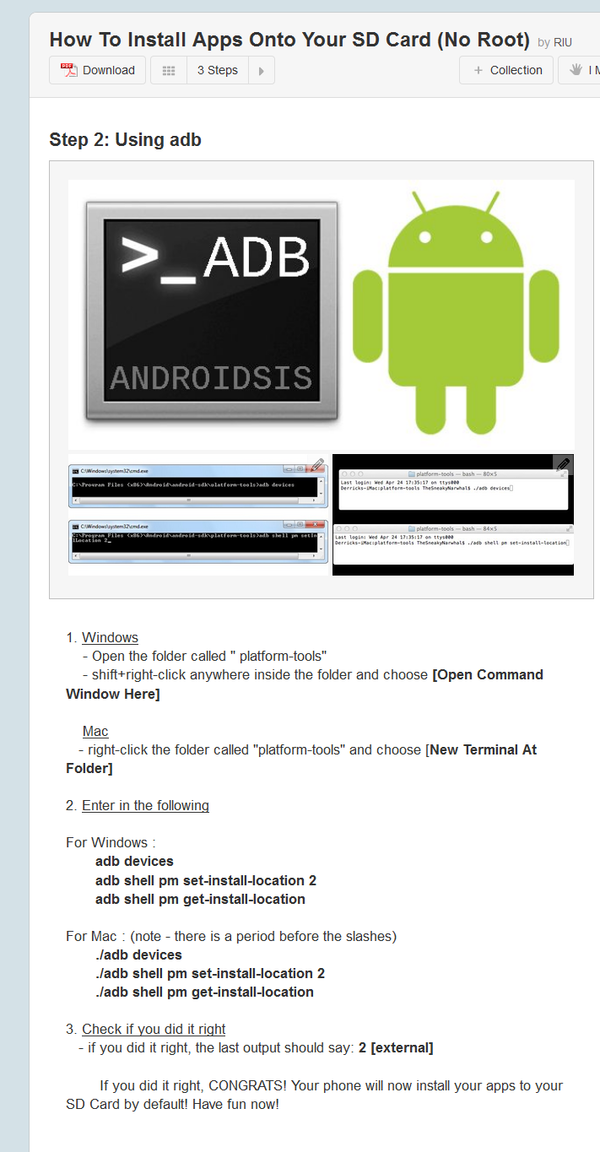 how to install app into your sd card without root in android